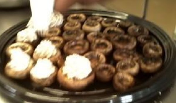 Meanwhile saute the mushroom stems in butter till soft, about five minutes. Then add...