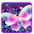 Colorful Glitter Neon Butterfly Keyboard Theme APK
