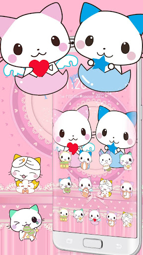 Cute Cartoon Cat Love Theme 1.1.5 screenshots 1