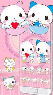Cute Cartoon Cat Love Theme 1.1.7 Mod Android Updated 1