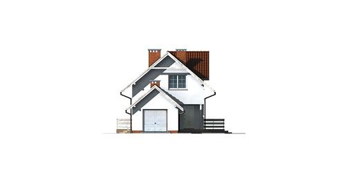 Dom przy Koniczynek - Elewacja przednia