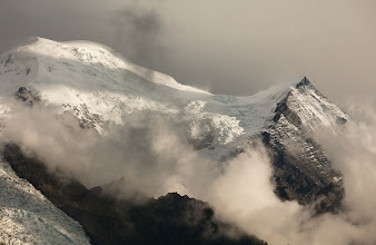 Photo: At sunset from our apartment in Chamonix.