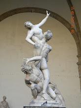 Photo: Copy of Giambologna's The Rape of the Sabine Women(at Piazza della Signoria, info from Wikipedia)