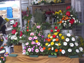 Photo: After our tour we went to an open air market where we saw these beautiful bouquets, costing about $9.