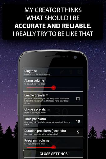 Alarm clock Malarm ⏰ Without stress. Without ads. screenshot 5