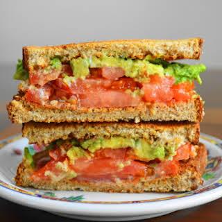 Tomato Avocado Ranch Sandwich.