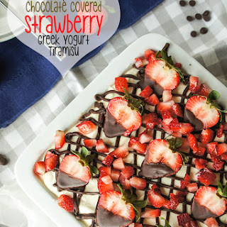 Chocolate Covered Strawberry Greek Yogurt Tiramisu {Gluten-Free, Grain-Free}
