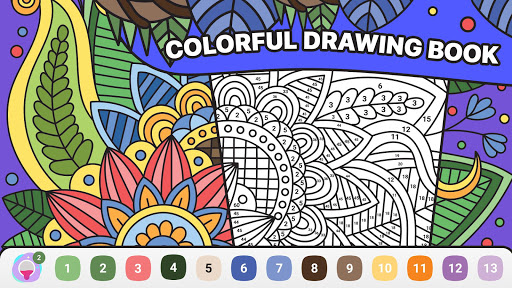 BATIQ ud83cudfa8 Coloring book by number | Color Therapy 1.5.1.0 screenshots 5