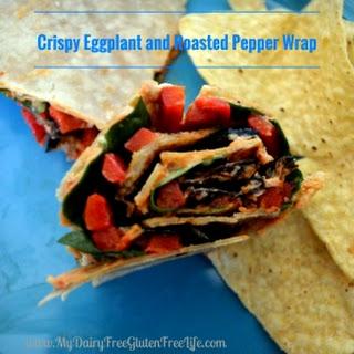 Crispy Eggplant and Roasted Pepper Wrap.