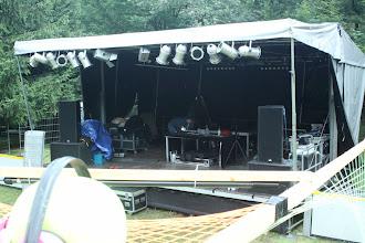 Photo: the big stage still quiet