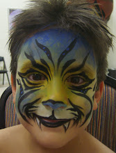 Photo: Incredible Face Painting Mask by Paola Gallardo from http://www.BestPartyPlanner.net