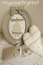 Photo: quadretto realizzato con cornice BlancMariClò e un angioletto di legno