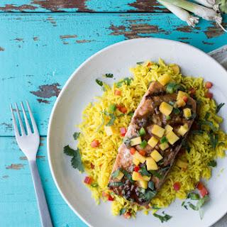 Grilled Salmon with Caribbean Mango Glaze Recipe