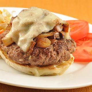 Open-Faced Mushroom-Swiss Burger