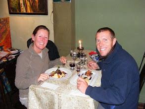 Photo: A posh dinner in Puno