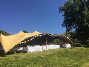 Photo: Wedding tent on the meado