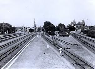 Photo: Egmore Railway station & St.Andrews Church