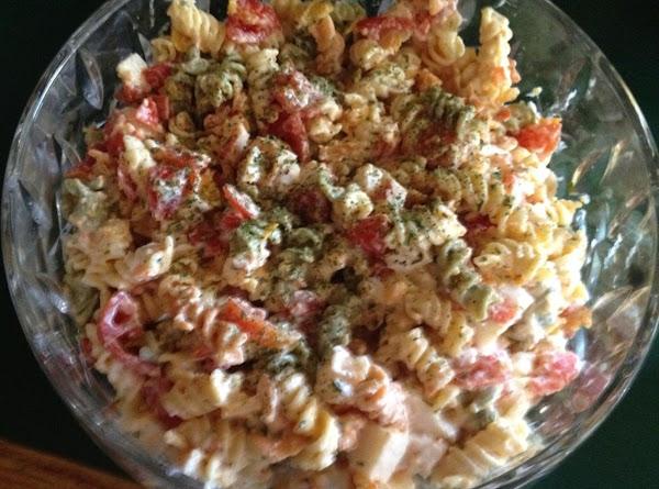 Colorful Pasta Salad With Crab Recipe