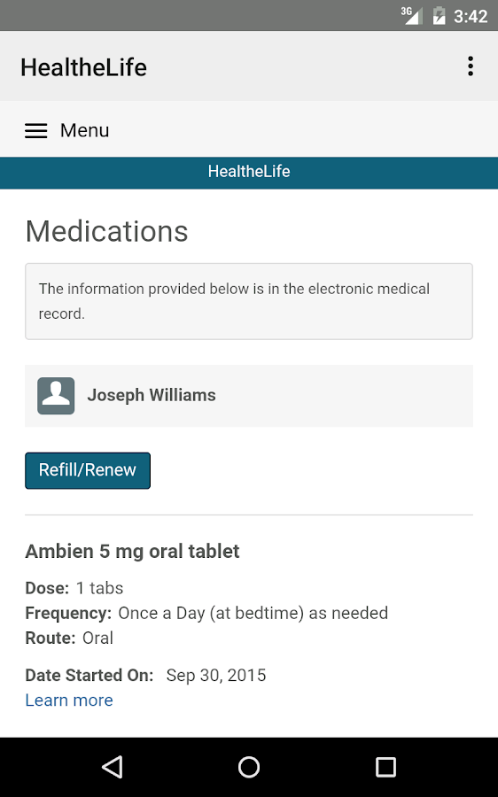 HealtheLife- screenshot