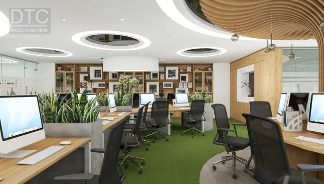 Phòng làm việc không gian rộng