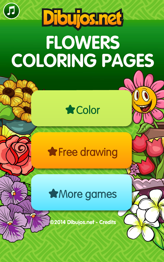 Flowers Coloring Pages Screenshot