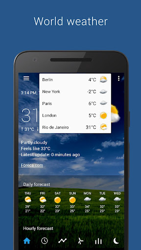 Transparent clock & weather  screenshots 7