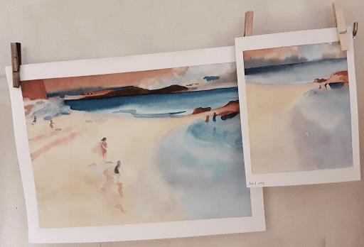 cours aquarelle JEANNE PAPA_ seine et marne_ fontainebleau_ moret sur loing