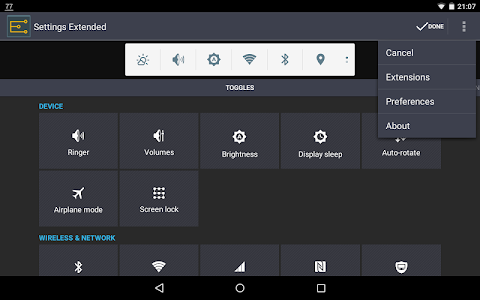 Settings Extended v1.6.1 build-0308