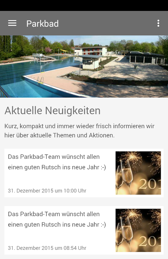 Parkbad Kriftel- screenshot