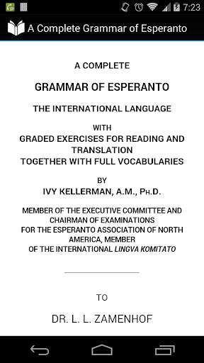 Complete Grammar of Esperanto