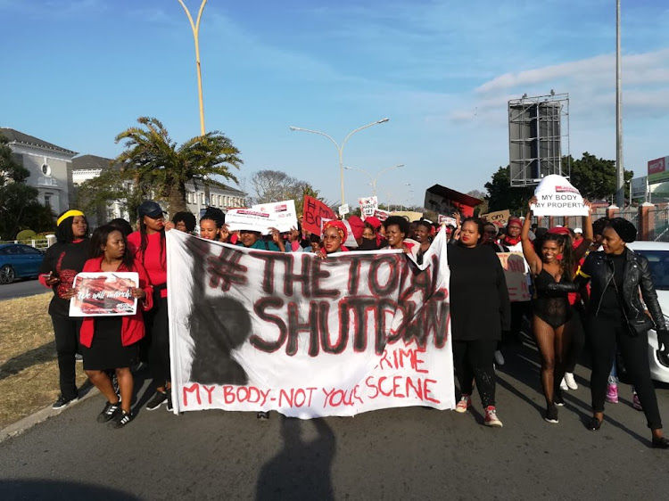 The #TotalShutdown march in East London.