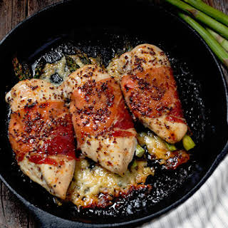 Havarti and Asparagus Stuffed Chicken Breasts.