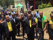ANC president Cyril Ramaphosa and former president Jacob Zuma at Ohlange Institute.