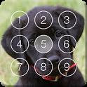 Cute Black Labrador Puppies Screen Lock icon