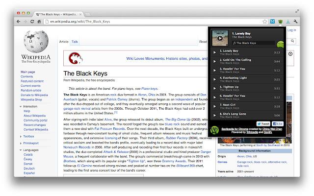 Spotipedia for Chrome