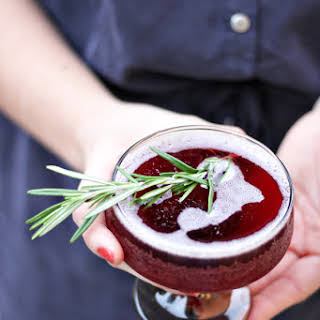 Rosemary Infused Holiday Cocktail.