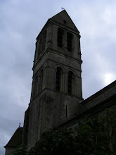 Photo: The 12th century bell tower dates from the time when relics of Cosmas and Damian (patron saints of surgeons and doctors, which was their own profession) were brought here by the Crusader Jean de Beaumont.