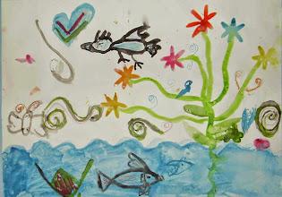Photo: Зеленина Ульяна. Мир в котором я живу. 6 лет.