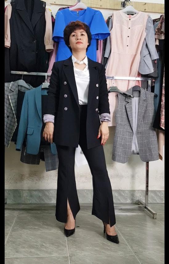 mix đồ áo Vest Nữ với quần Ống Loe thời trang thuỷ hải phòng 2