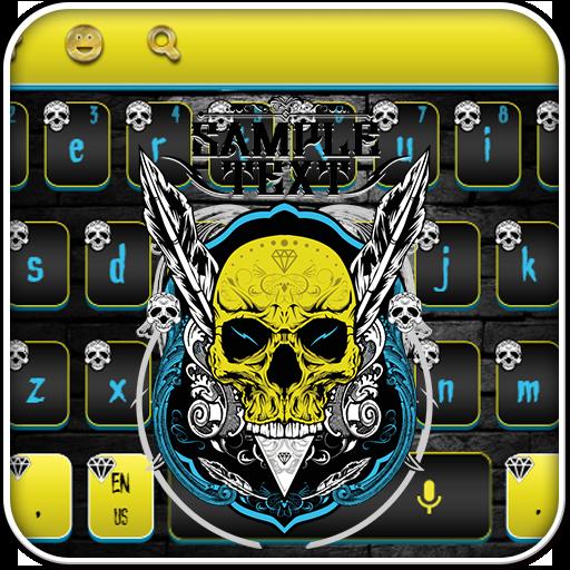 Cool Human Skeleton Keyboard Theme