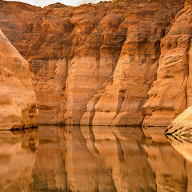Water Canyon by Jerry Cahill - Landscapes Waterscapes