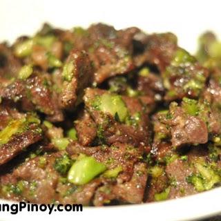 Beef Stir Fry with Chopped Broccoli