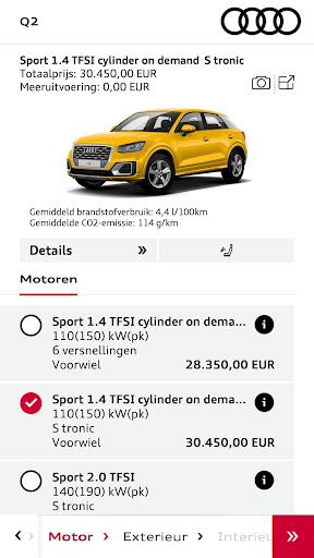 Audi Configurator BE screenshot 3