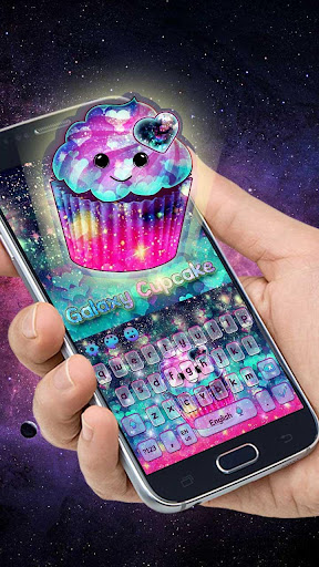 Galaxy Cupcake Keyboard Theme for PC
