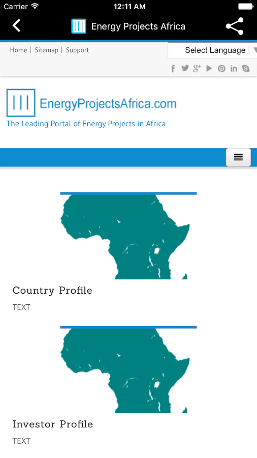 Energy Projects Africa- screenshot