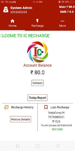 Screenshot for IC RECHARGE in United States Play Store
