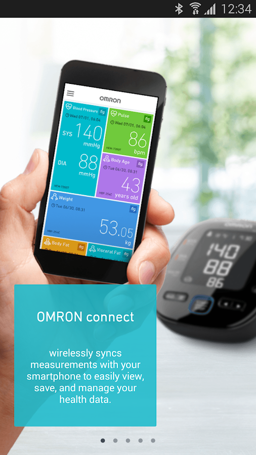 OMRON connect- screenshot