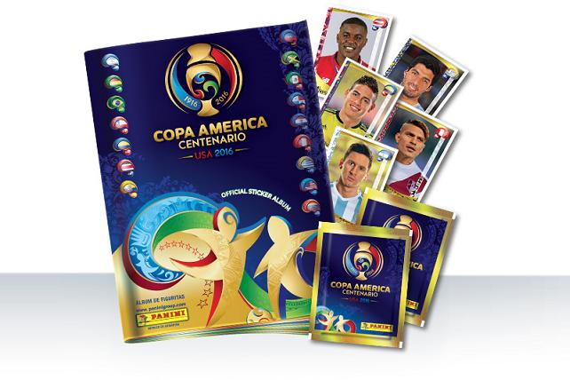 Álbum de figurinhas Copa América Centenário 2016