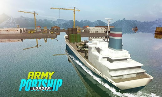 Military Cargo Loader Truck: Ship Driving Games 3D - náhled