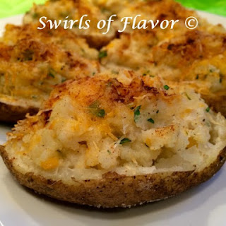 Twice Baked Cheddar Potatoes.